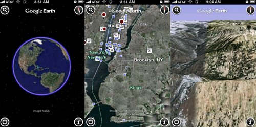 google earth ipod Google Earth iPhonelle