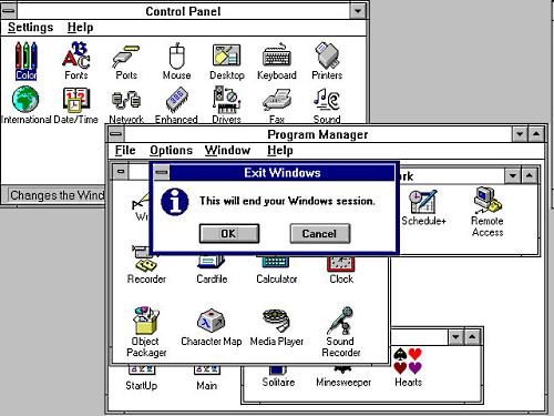 win3 Windows 3.x lopetettu