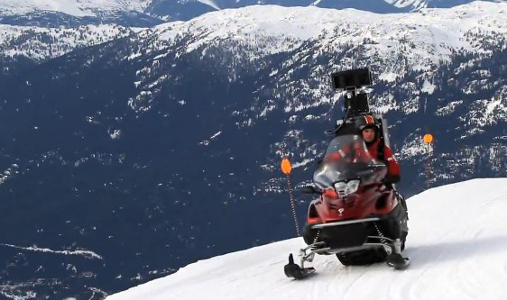 streetview snowmobile 1 Google Street View Snowmobile   rinteet kartalle