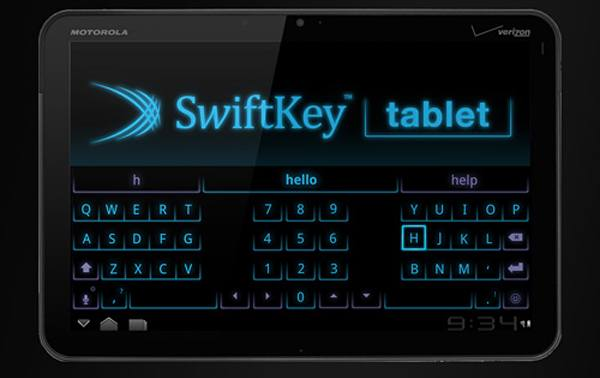 swift Swiftkey Tablet   nopeaa naputtelua Android tabletilla