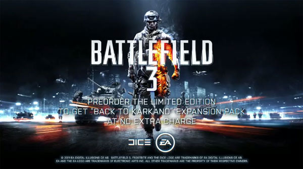 bf3 Battlefield 3   E3:n antia gameplay trailerien muodossa